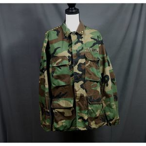 Camouflage Jacket with Studded Size Small